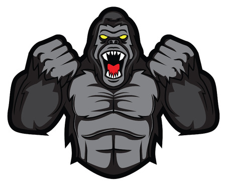 gorilla: gorilla angry Illustration