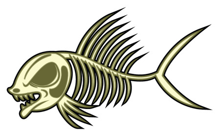 hostile: fish skeleton Illustration