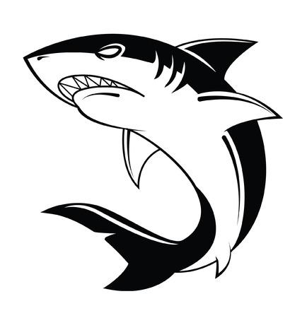 サメのベクトル図  イラスト・ベクター素材