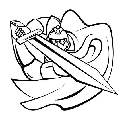 Knight Warrior Vector Illustration Vector