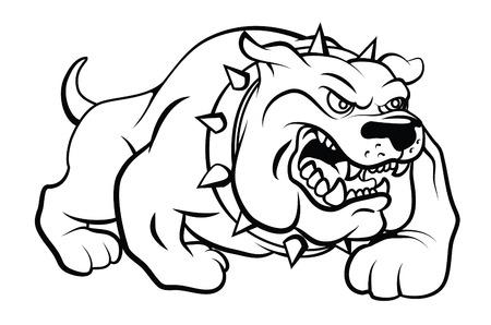 perro caricatura: Ilustración Bull Dog Vector Vectores
