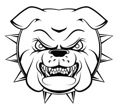 perro furioso: Bulldog Head