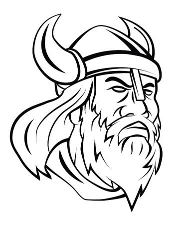 Viking Hoofd Vector Illustratie