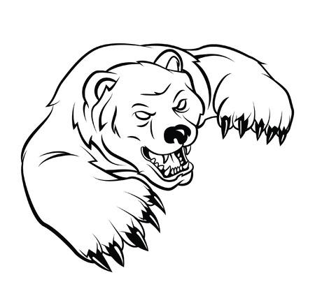 angry bear: Tenga Vectores