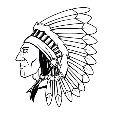 Apache Head Vector Illustration 일러스트