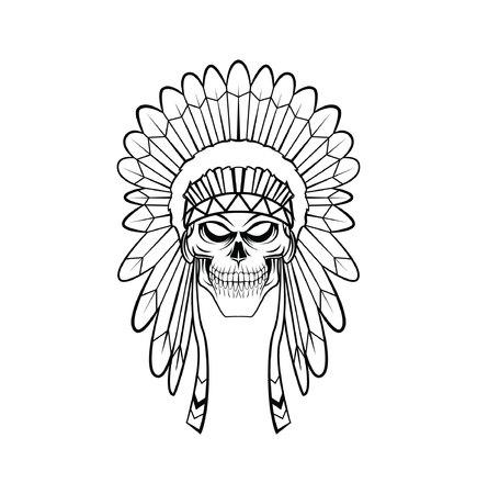 head-dress: Siedziba Apache Ilustracja