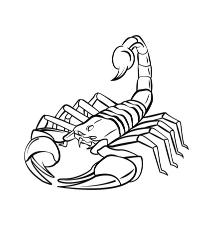 Scorpion Warrior vector illustration Vector