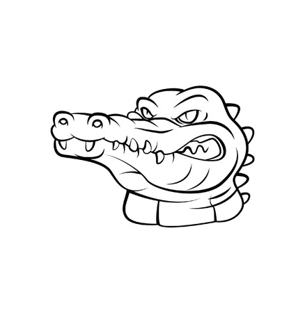 Crocodile Warrior vector illustration Vector