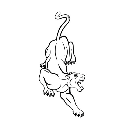 Panther Tattoo Vector