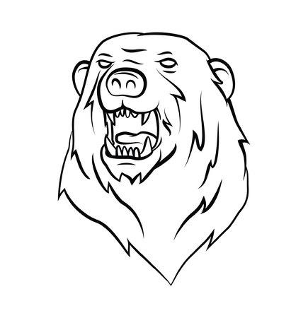Bear Tattoo Vector