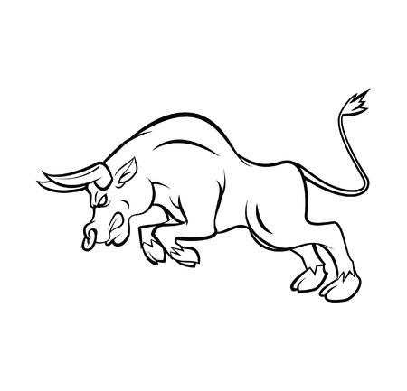 Bull Tattoo Vector Illustration Vector