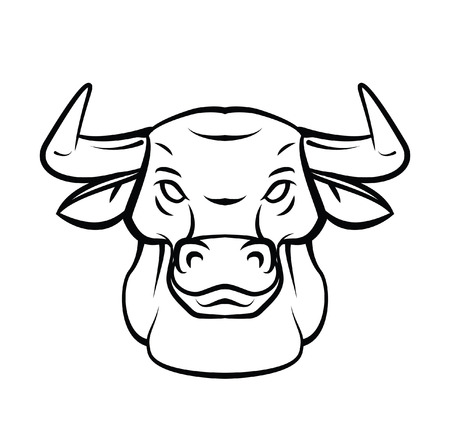 Bull Head Tattoo Vector Illustration Vector
