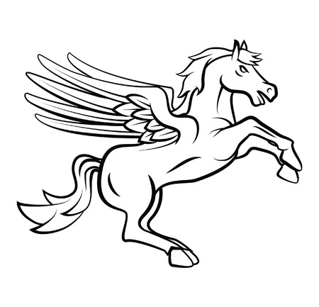 Horse Wings Vector