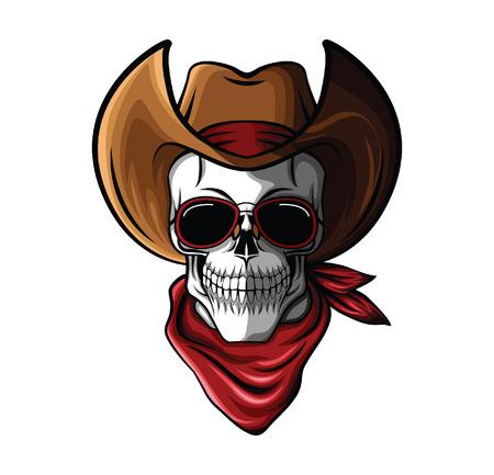 Skull Cowboy Vector