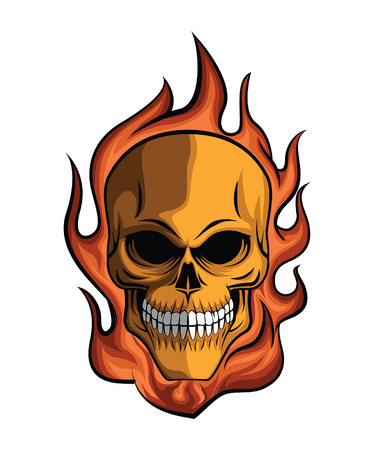 Fire skull stock photos royalty free business images skull fire voltagebd Images