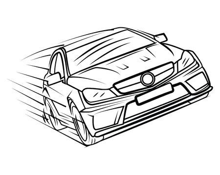 race winner: Car Race Illustration