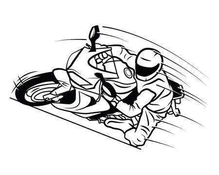 moto race Vector