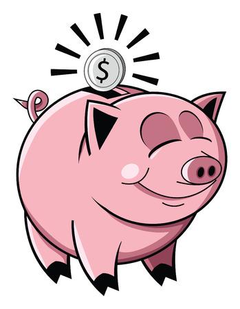 Happy spaarvarken Stock Illustratie