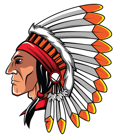 indian chief mascot: Apache Head