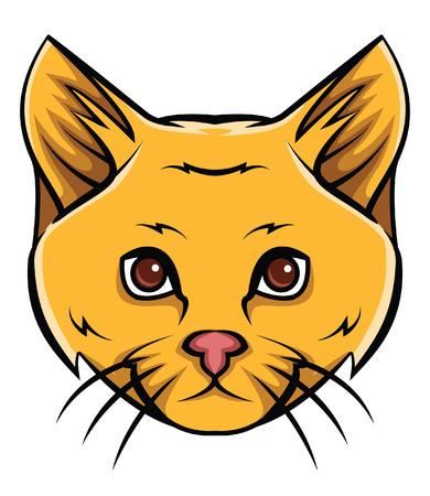 cat head: Cat Head Tattoo Vector Illustration Illustration