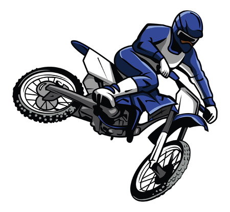 bike race: moto cross rider