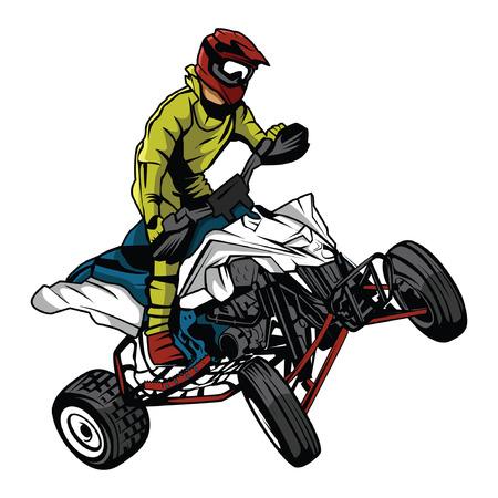 ATV moto rider Vector