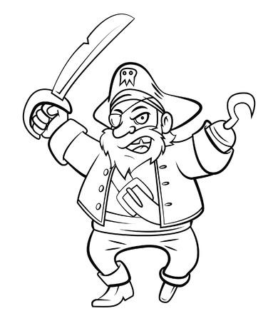 sea robber: Pirate Illustration
