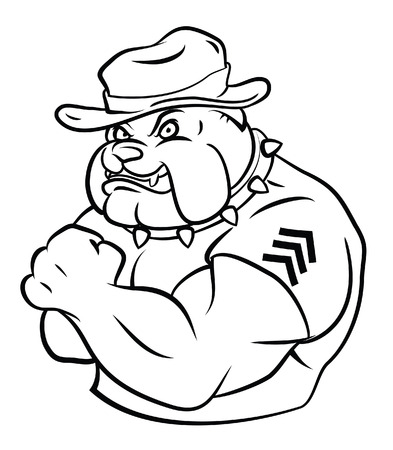 bulldog security Vector