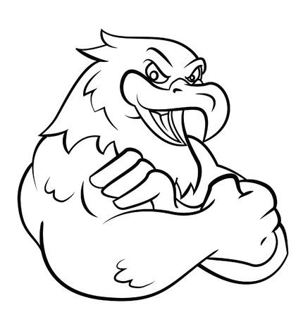 Strong Eagle Illustration