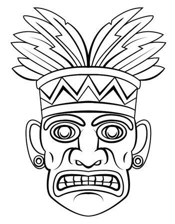 Traditional mask Vector