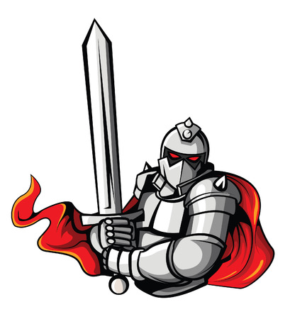 Knight Warrior Vector Illustration