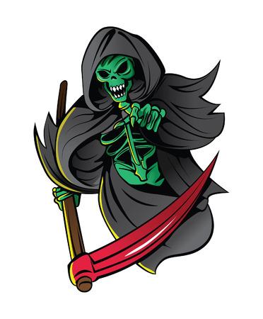 skull tattoo: Grim Reaper Illustration