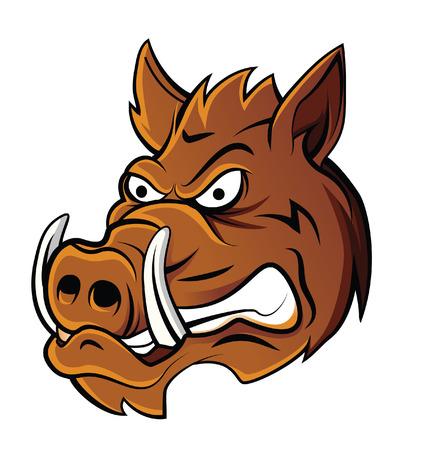 Wild Boar Head  イラスト・ベクター素材