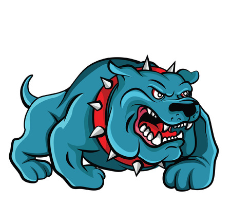 angry dog: Vector Bull Dog Vectores