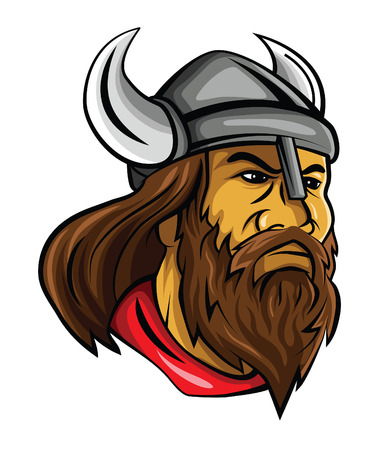 Viking Head Illustration