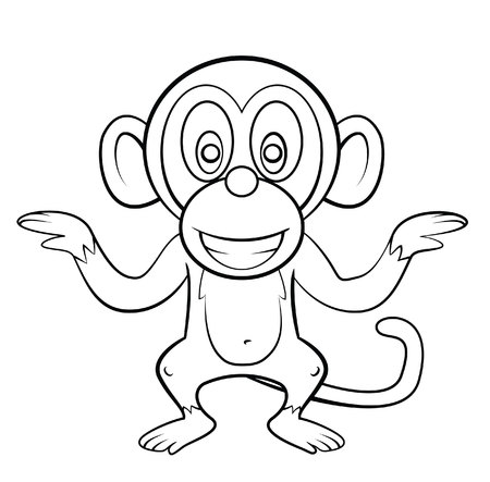 Mono de dibujos animados Foto de archivo - 31712198