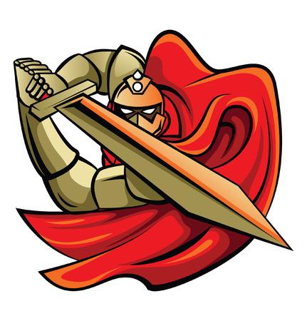 Knight Warrior Illustration Vector