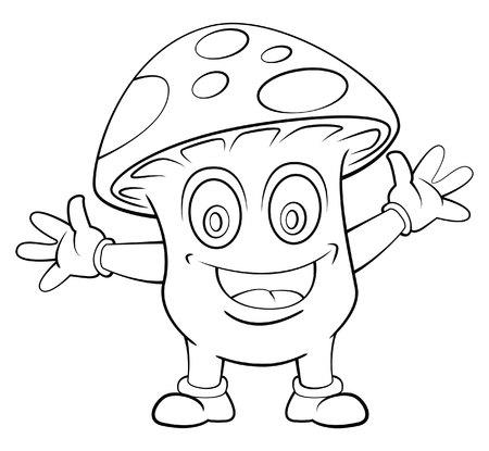 Mushroom Cartoon Vector