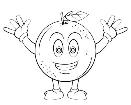 naranja fruta: Naranja fruta de la historieta