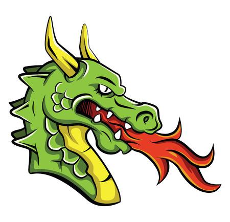 black and white dragon: Dragon Head
