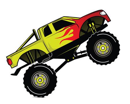 Truck Race Vector