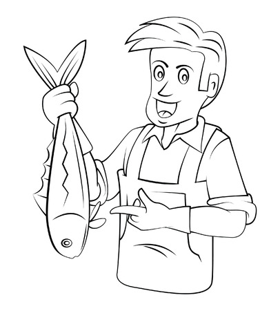fishmonger Vector