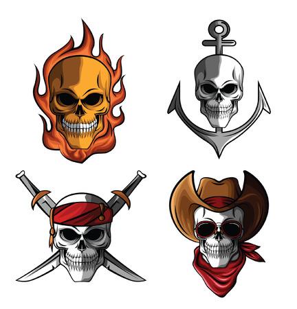 skull crossbones: Skull Collection Illustration