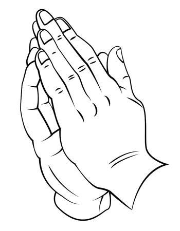 Praying Hand Illustration