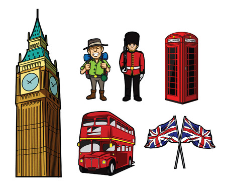 London Tourism Symbol Vector