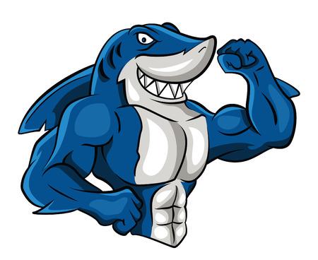 Shark Muscle  イラスト・ベクター素材