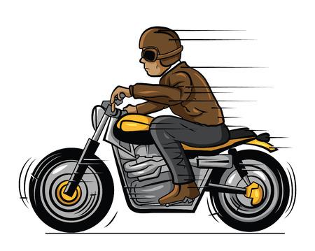 Old Biker Illustration