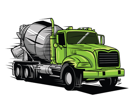 gran camión Ilustración de vector