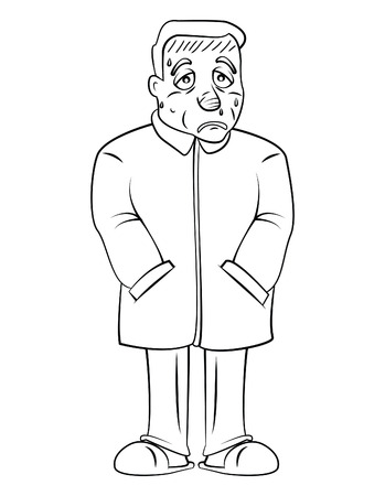 fever man using jacket Vector