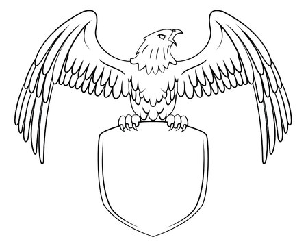 eagle wings: Eagle Symbol Illustration